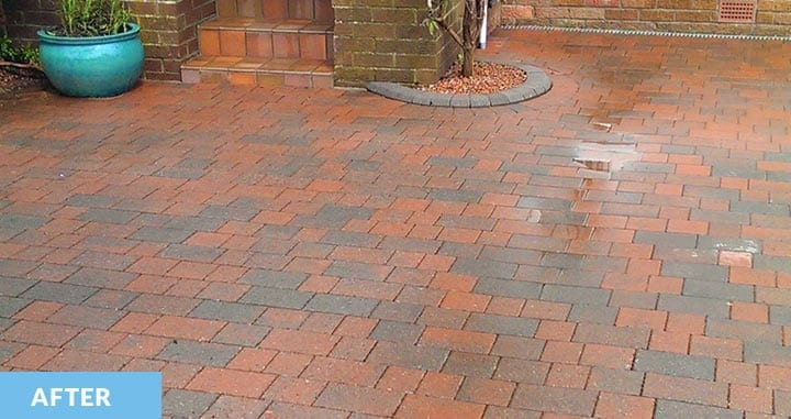 Lock block driveway after cleaning