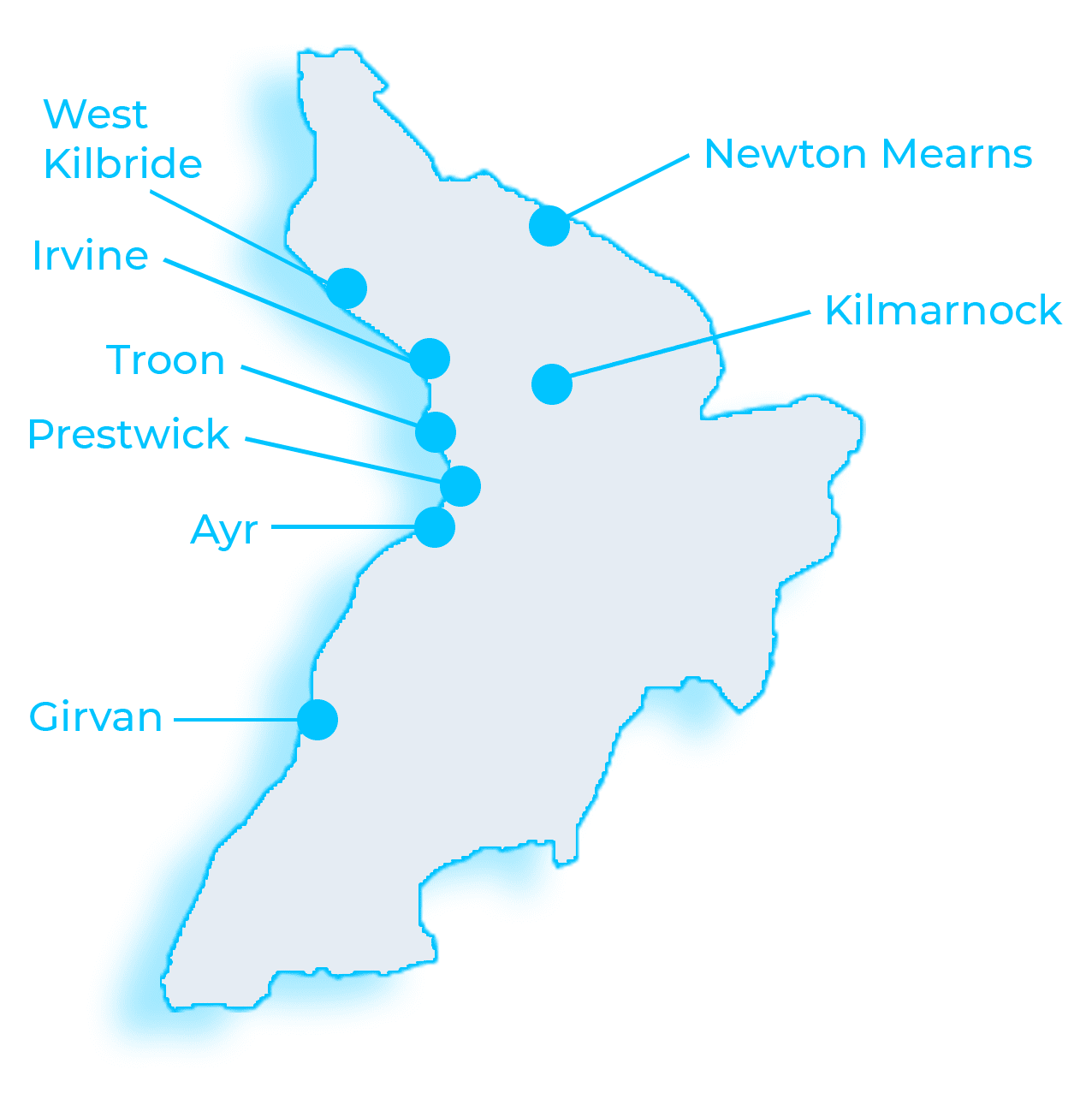 Map of Ayrshire